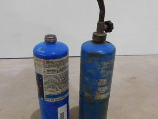 2 Bernzomatic propane hand torch cylinders