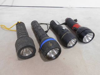 lot of 4 assorted flashlights