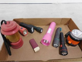 lot of 9 assorted flashlights
