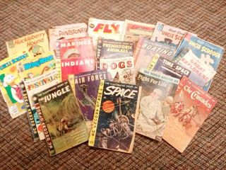 Collectible Vintage Comic Books lot of 21 Dates Range From 1960 to 1978 Titles Include Mickey Mouse Uncle Scrooge Educative Subject Issues and Many More Poor to Good Condition Some Covers loose with Dark Spines or Spines Separared