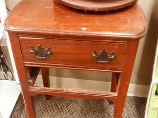 Wood Sewing Table with Turnout Drawer with Sewing Supply Storage 27 x 20 x 13 in NEEDS MAJOR REPAIR