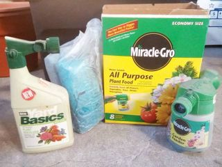 Miracle Gro All Purpose Plant Food with Garden Feeder and Ortho Plant Fertilizer