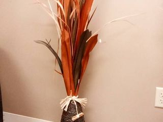 Wicker and Faux Flower Decor Approximately 45 in Tall