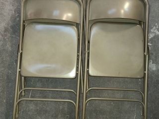Metal Folding Chairs Set of 4