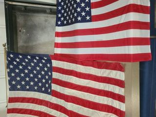Outdoor United States of America Flags lot of 2