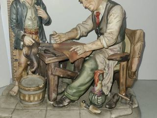 THE SHOE MAKER and His ASSISTANT FIGURINE