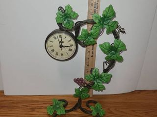 ClOCK on a VINE with lEAVES  NEEDS battery
