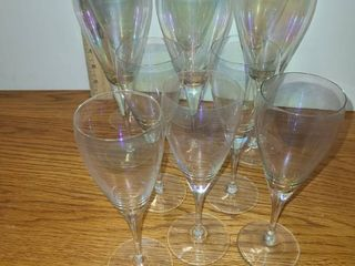 OPAlESCENT Champagne Glasses  11 Total