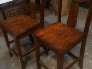 Wood Barstools 38 x 17 x 17 in