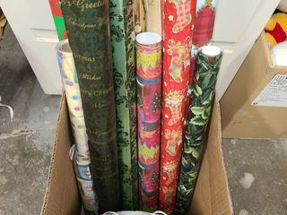 CHRISTMAS DECOR Wrapping Paper  Gift Boxes  Tissue and other items