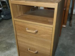 Wood Filing Cabinet 24 x 15 x 16 in