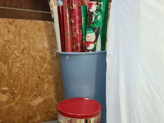 Wrapping Paper with Christmas Tin