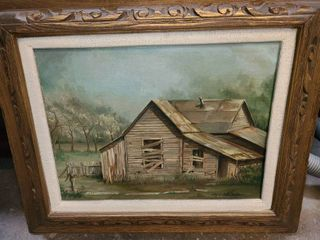 Albert Dale Minear Framed Canvas Oil Painting 18 x 22 in
