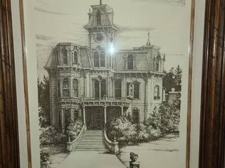 Albert Dale Minear The Governors Mansion Sacramento California Framed Art 27 x 23 in