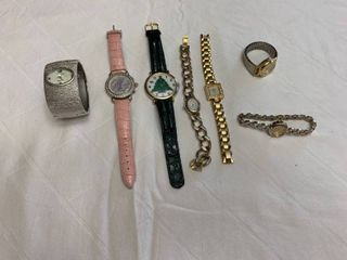 ladies jewelry   one watch and one bracelet with watch