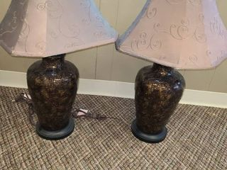 PAIR OF TABlE lAMPS  Approximately 31  tall