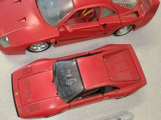 TOY MODEl CARS  SCAlE 1 18 is the 1987 FERRARI and the other is SCAlE 1 24 1984 FERRARI GTO