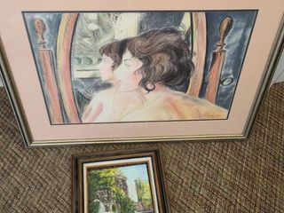 FRAMED ART  2 PCS  SEE PICTURES