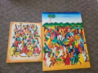2 Very Colorful CANVAS PAINTINGS