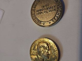 Roosevelt For Country and Humanity Coin with George W Bush Presidential Center Coin