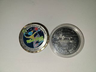 43rd Annual Riverfest Coin with Isadore Kootenay Dollar Coin