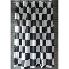 Gamma Extra long Shower Curtain 78 x 72 Inch Checkered Flag Fabric