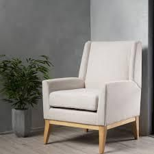 Aurla Mid Century Fabric Accent Chair by Christopher Knight Home  Retail 187 53