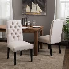 Crown Fabric Off white Dining Chairs  Set of 2  by Christopher Knight Home Retail 215 49