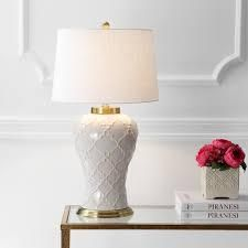 Arthur 29 inch Ceramic lED Table lamp With Cream Shade