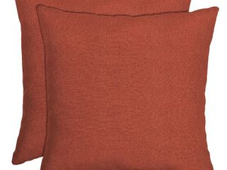Orange 16 in l x 16 in W x 5 in H Arden Selections Sedona Woven Outdoor Throw Pillow  2 pack