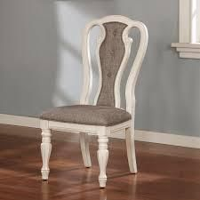Fant Traditional High Back Chair in Antique White