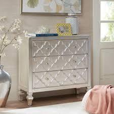 Madison Park Greyson Antique Silver 3 Drawer Dresser