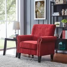 Copper Grove Herve Brick Red Velvet Arm Chair  Retail 269 49