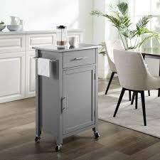 Savannah Stainless Steel Top Compact Kitchen Cart Table NO HARDWARE