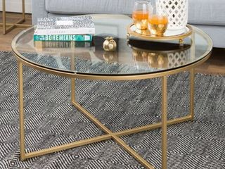 Silver Orchid Helbling 36 inch Round Coffee Table  Retail 144 99