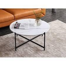 Modern Round Wood Small Coffee Accent Table