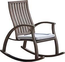 Cayo Outdoor Acacia Wood Rocking Chair