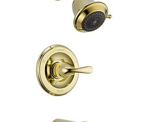 Delta   Monitor 13 Series   Tub and Shower Trim   Brass Finish