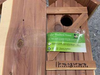 Homegrown Cedar   Cedar Bluebird House   Set of Two