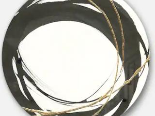 Designart  Gold Glamour Circle II  Geometric Metal Circle Wall Art Retail 143 99