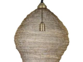 Hayes   19  Antique Brass Mesh   1 light Pendant