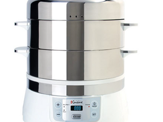 Euro Cuisine FS2500 Stainless Steel Electric Food Steamer   Retail 149 99
