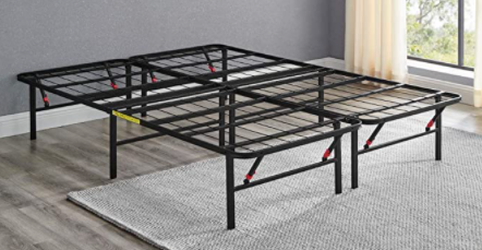 Amazonbasics Foldable Metal Platform Bed Frame 14 Inch Height For Under bed