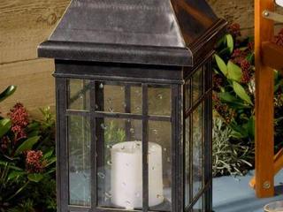 Smart Solar lamp San Rafael Estate Solar lantern Antique Bronze