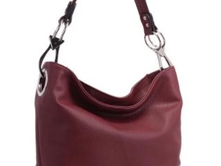 Burgundy   MKF Collection Emily Soft Vegan leather Hobo Handbag by Mia K