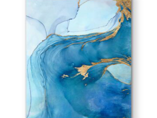 12X18   Sea Whirl I  Premium Gallery Wrapped Canvas