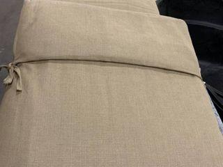 Beige   Chaise Cushion   Outdoor