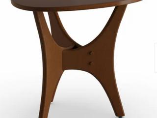 Carson Carrington Vintrosa Brown Triangle Wood Side Table Retail 139 99