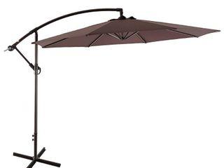 Bally 10 ft  Cantilever Hanging Patio Umbrella  Coffee