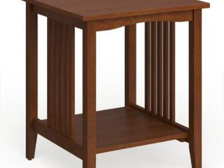 Porch   Den Clifton Mission Medium Oak Wood Finish Side Table Retail 77 48